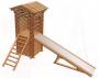 Горка-домик из оцилиндрованного бревна 5,3х1,3х3,3 м