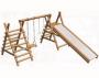 Гимнастический комплекс из оцилиндрованного бревна 5,5х5,3х3,5 м