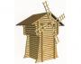 Мельница-сарай из оцилиндрованного бревна 1,5х1,2 м
